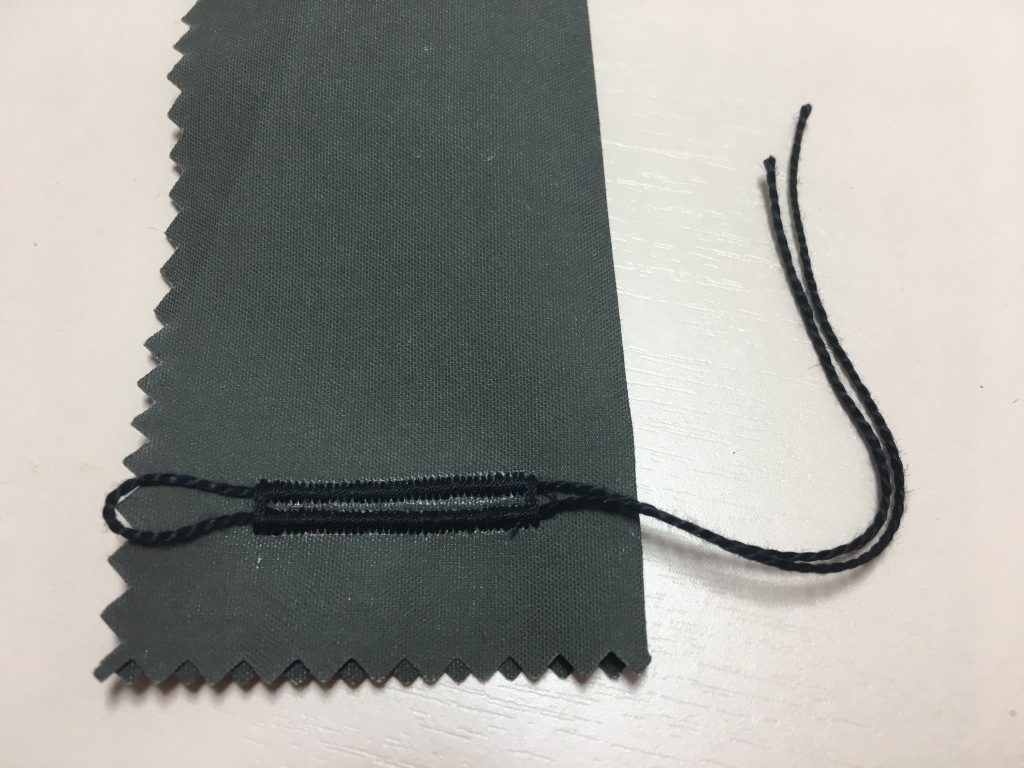 Sewing corded buttonhole tutorial