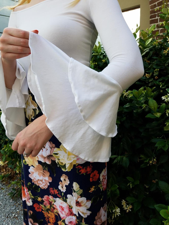 nettie off the shoulder bodysuit and burda maxi