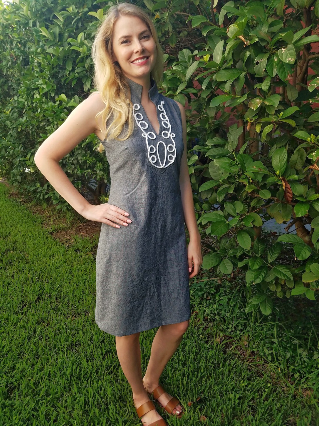 The Tunic bible review chambray dress cording trim sewing Megan Francine