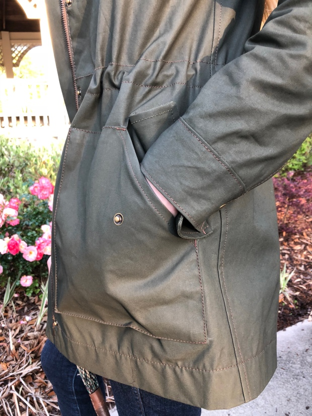 Kelly Anorak closet case patterns waxed jacket