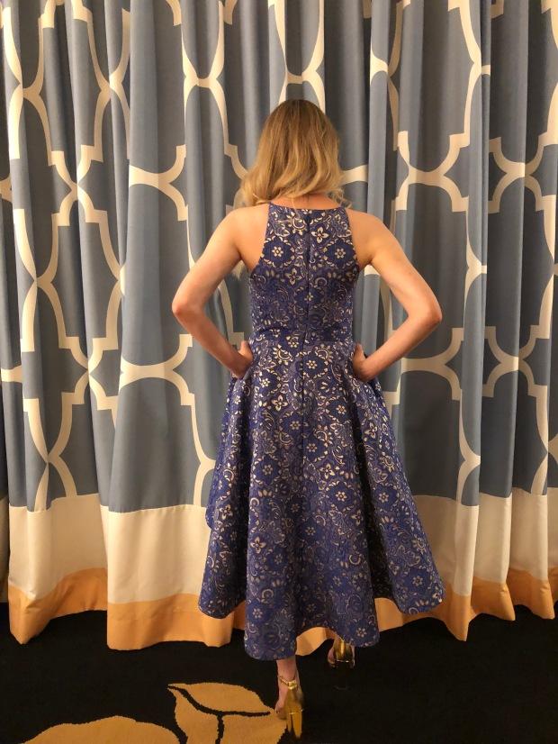 Vogue 9252 dress back