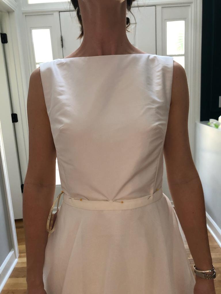 making the wedding dress